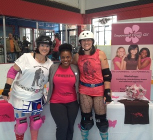Eastside Derby Girls with EFG's Rasheda Kamaria
