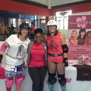 Eastside Derby Girls with EFG's Rasheda Kamaria
